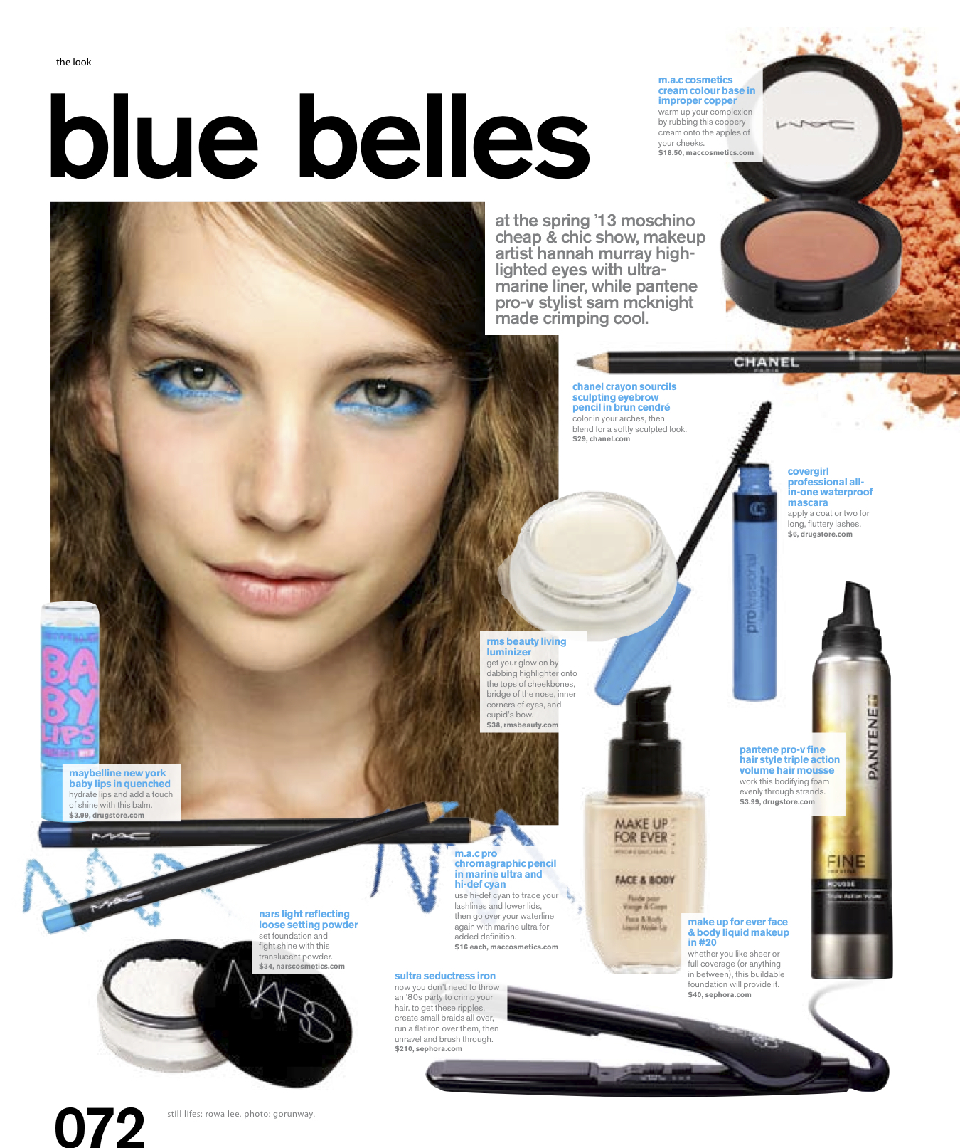 Nylon Magazine Blue Belles Rmsbeautyblog